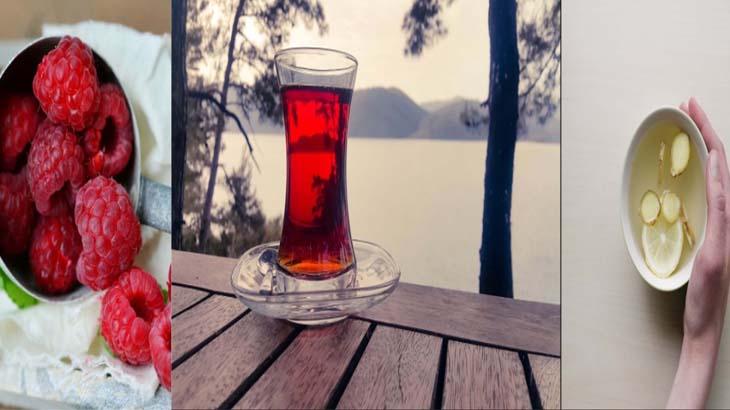 липовый и малиновый чай