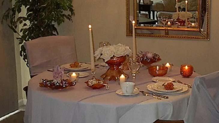 Атмосфера для романтического ужина