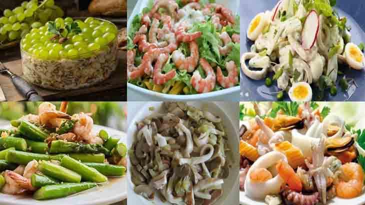 фото подборка салатов для романтического ужина
