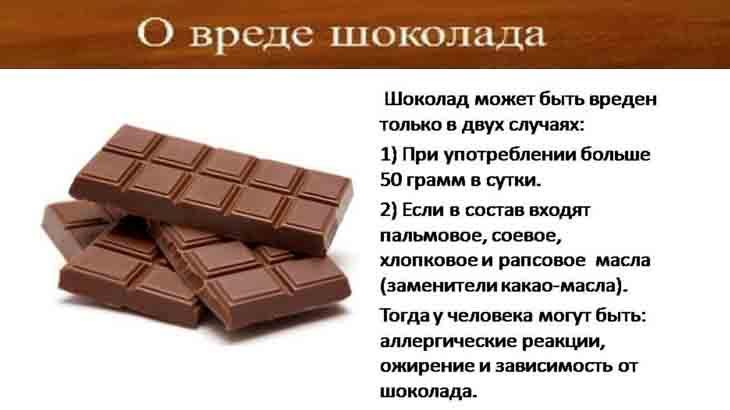 О вреде шоколада