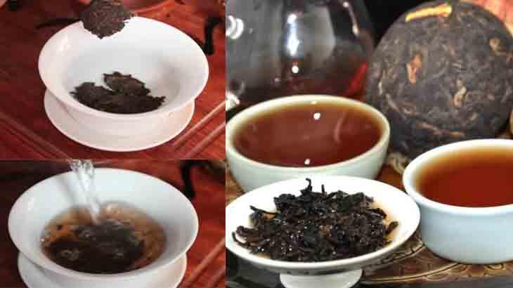 Заварка чая пуэр в чашке