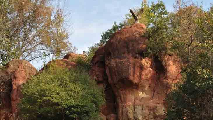 Красные камни в Кисловодске