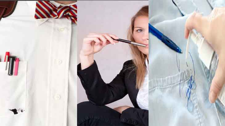 Чем отстирать чернила от ручки с одежды