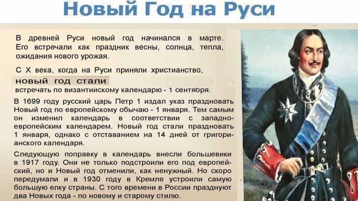 История Нового года на Руси