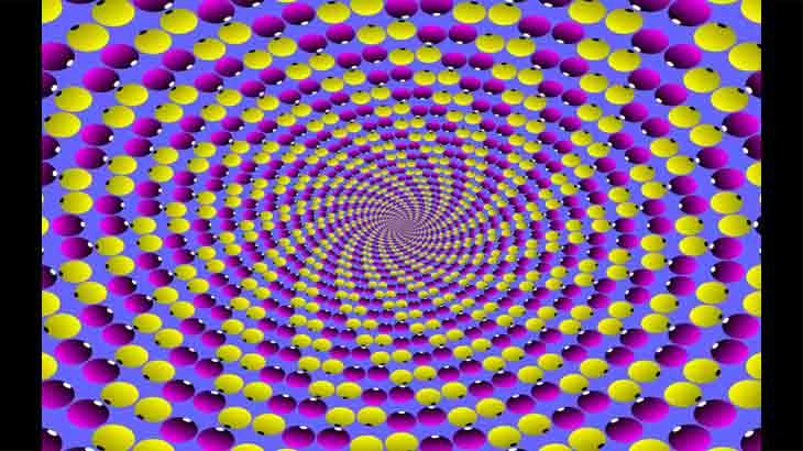 Оптическая картинка Крутящаяся спираль