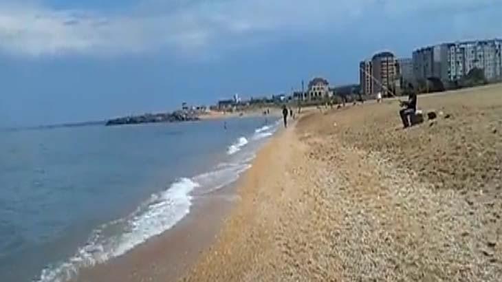 Пляж в городе Ангарске