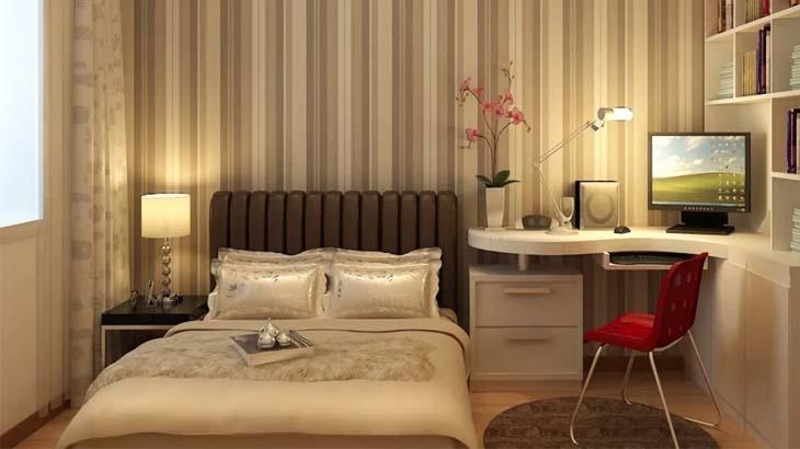 Спальня с рабочей зоной по фен-шуй